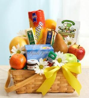 Fruit & Gourmet Basket for Sympathy by Cremation Funeral Flowers.com