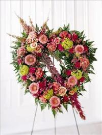 Eternal Rest Heart by Cremation Funeral Flowers.com