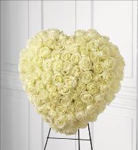 Elegant Remembrance Standing Heart by Cremation Funeral Flowers.com