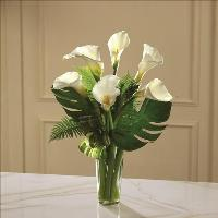 Always Adored Calla Lily Bouquet by Cremation Funeral Flowers.com