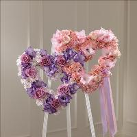 Hearts Eternal Easel by Cremation Funeral Flowers.com