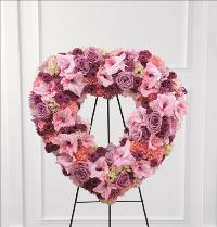 Eternal Rest Standing Heart by Cremation Funeral Flowers.com