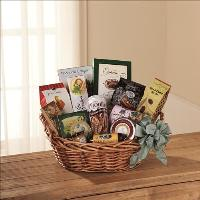 Warmth & Comfort Gourmet Basket by Cremation Funeral Flowers.com