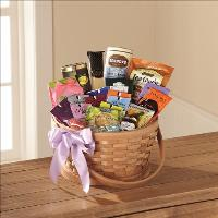 Quiet Tribute Gourmet Basket by Cremation Funeral Flowers.com