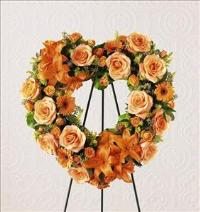 Hearts Eternal™ Wreath by Cremation Funeral Flowers.com