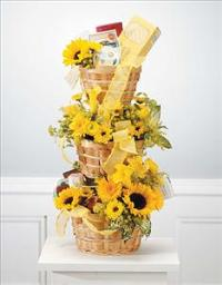 Three-Tier Comfort Basket by Cremation Funeral Flowers.com