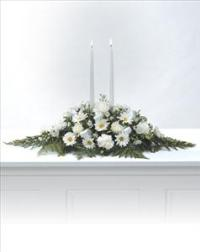 Believe in Candle Arrangement by Cremation Funeral Flowers.com