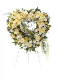 Heart Shaped Floral by Cremation Funeral Flowers.com