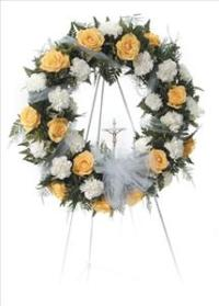Forever Open Standing Wreath by Cremation Funeral Flowers.com