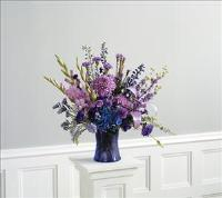 Amethyst Vase by Cremation Funeral Flowers.com