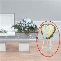 Caring Heart Standing Spray by Cremation Funeral Flowers.com