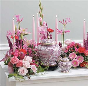 Tabletop Memorial Arrangement by Cremation Funeral Flowers.com