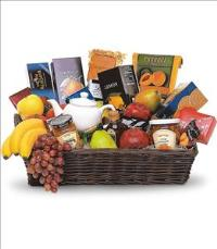 Grande Gourmet Fruit Basket by Cremation Funeral Flowers.com