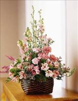 Exquisite Memorial Basket by Cremation Funeral Flowers.com