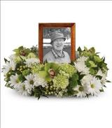 Garden Wreath by Cremation Funeral Flowers.com