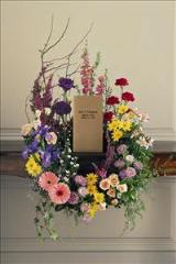 Cremation Urn Wreath by Cremation Funeral Flowers.com